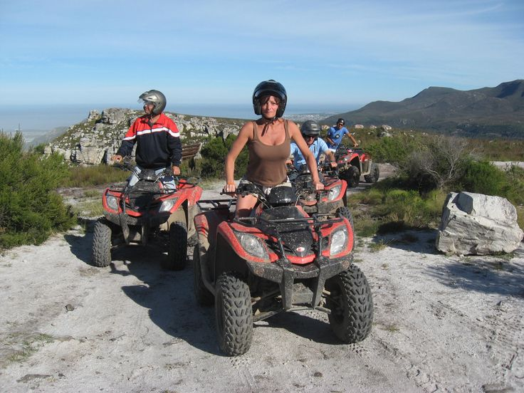 My sister and step-father when they came to visit form the UK.  They loved the quad biking trip.  The views are stunning form Rotary Way