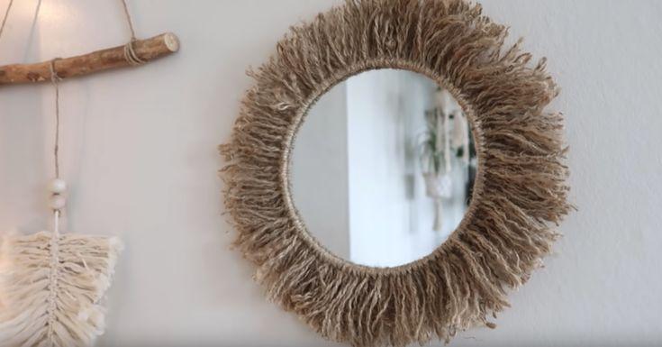 Tuto : créez un miroir bohème avec de la corde