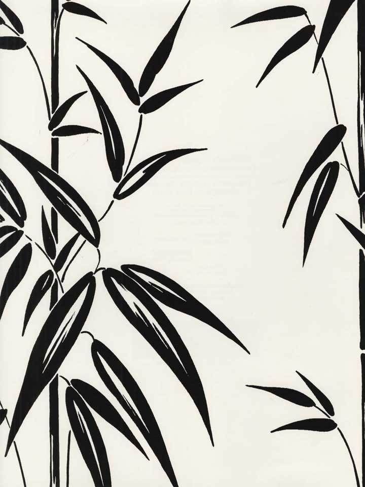Black Bamboo Branches on Soft White Background Wallpaper 28346908 /FD46908