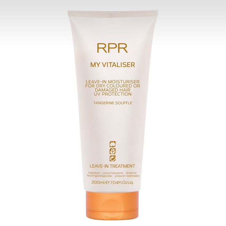 RPR My Vitaliser. Leave-in moisturising treatment for dry, coloured or damaged hair. UV Protection. www.rprhaircare.com.au