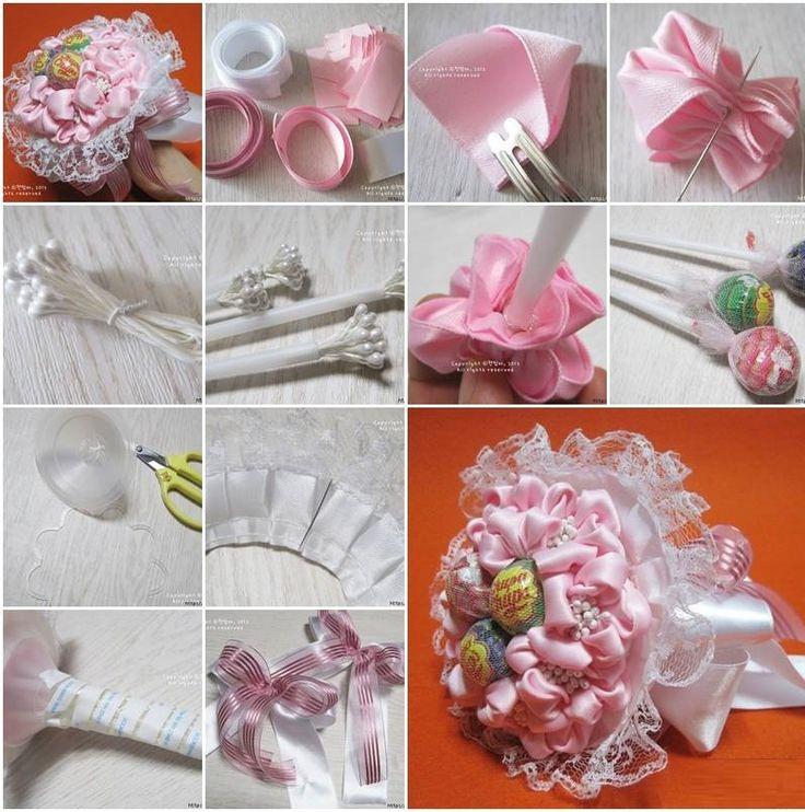 Букеты из конфет мастер класс пошаговое фото, букета невесты своих