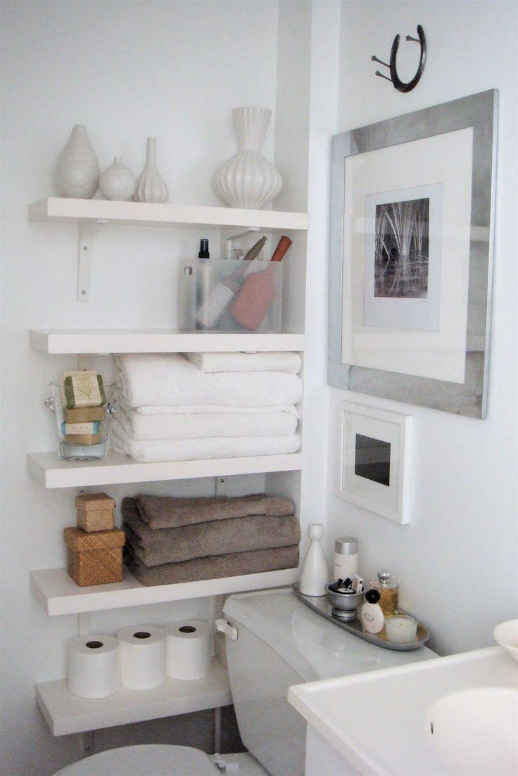 Bathroom wall organizers - Maximizing Bathroom Storage Organizing Small Spaces Maximize Storage With Shelving