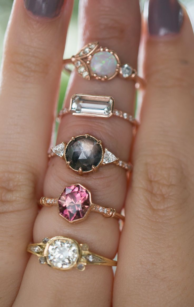 Non-traditional vintage inspired engagement ring styles!