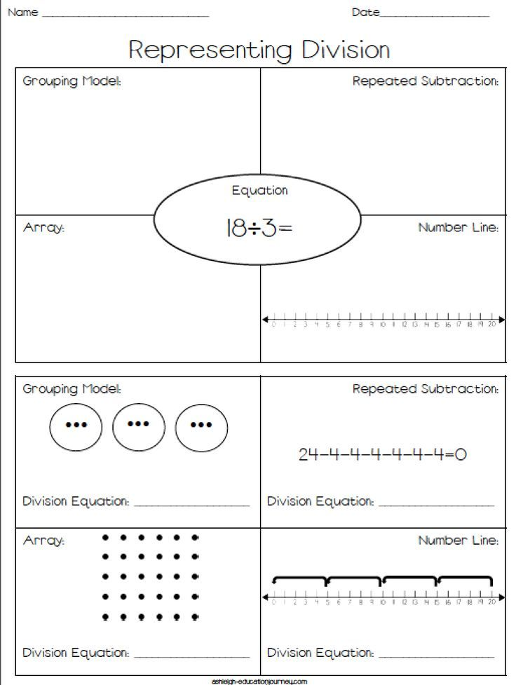 representing division free worksheet where students represent division using repeated. Black Bedroom Furniture Sets. Home Design Ideas