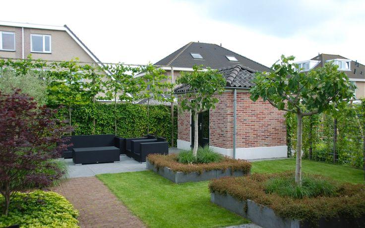 Moderne klassieke tuin in wognum van veen tuinontwerpen tuinontwerp hovenier tuinaanleg tuin - Barbecue ontwerp ...