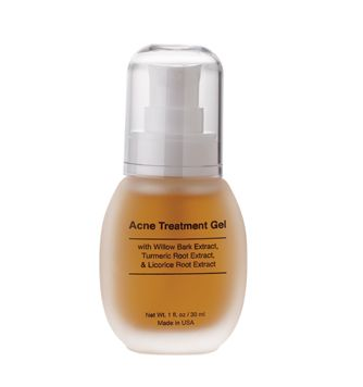 Acne Treatment Gel This powerful gel is perfect for oily, acne prone skin. Willow Bark Extract and Tumeric Root Extract are well known for fighting acne. Glycolic Acid exfoliates the skin while Glycerin and Aloe help moisturize and soothe. Witch Hazel acts as an astringent to help control oil. Licorice Root Extract helps reduce the appearance of redness.