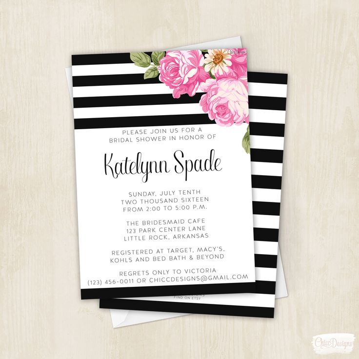 261 best Kate Spade Inspired Bridal Shower Ideas images on - printable bridal shower invites