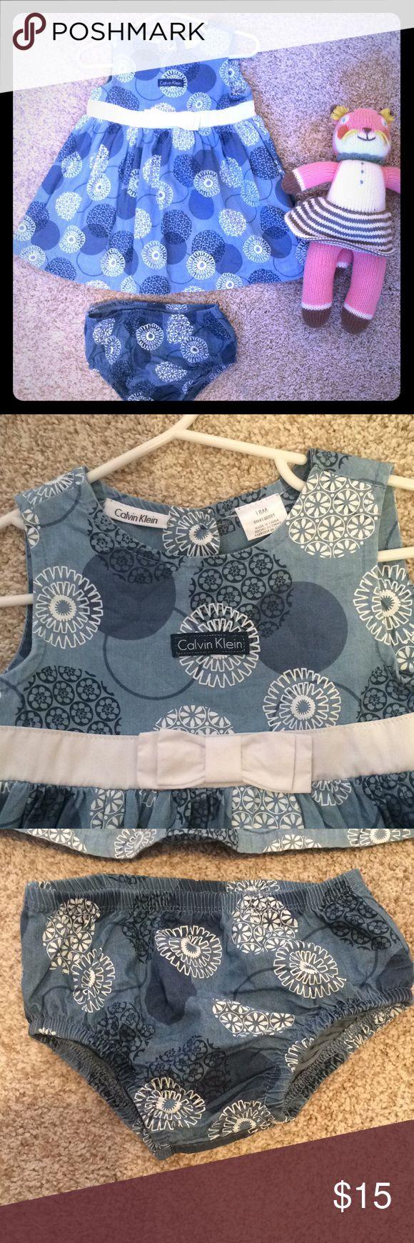 Calvin Klein little girls dress Worn twice .. like new condition!! Smoke free, good home. Calvin Klein Dresses Formal