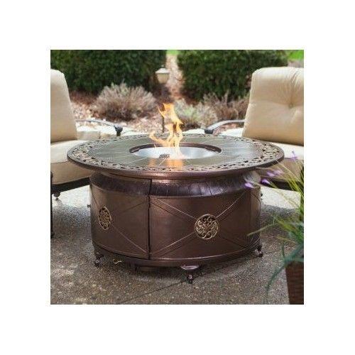 Patio Fire Pit Propane Cast Aluminum Bowl Fireplace