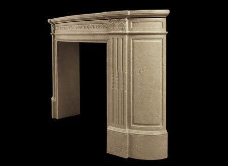 старинный мраморный камин в стиле регенства