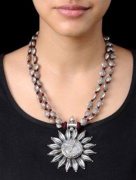 Tabeez Silver Necklace