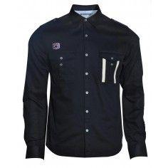 Bolongaro Trevor black Talbot Shirt. Wear it with a pair of light wash denim jeans