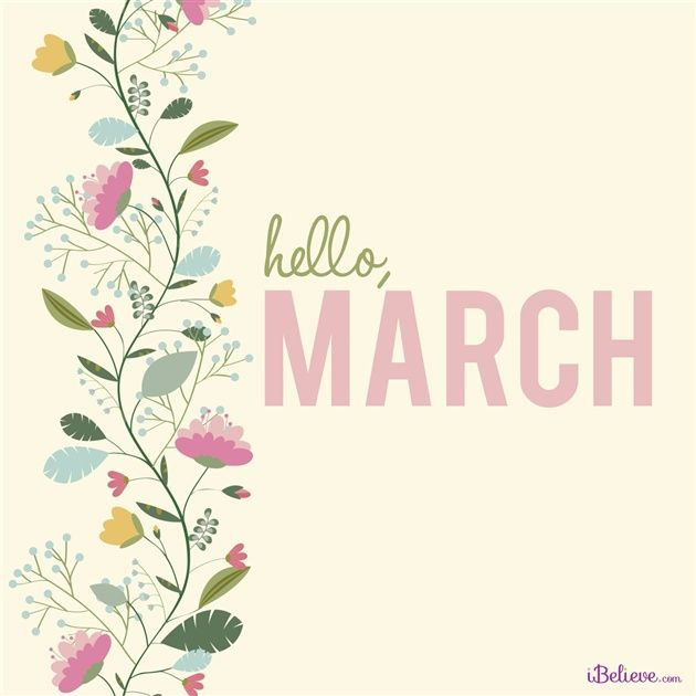 Hello March! - Inspirations