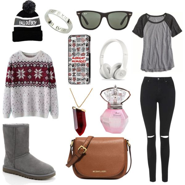 One Direction Outfit by lucywerta on Polyvore featuring polyvore fashion style American Eagle Outfitters Chicnova Fashion Topshop UGG Australia Michael Kors Kenneth Jay Lane Ray-Ban