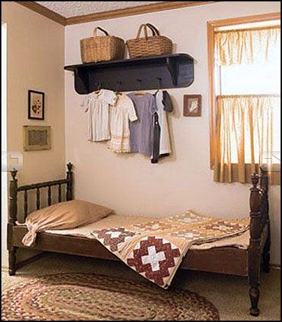 Primitive rustic country decor bedroom