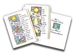 for 2012--o antiphon christmas cards that kids can color