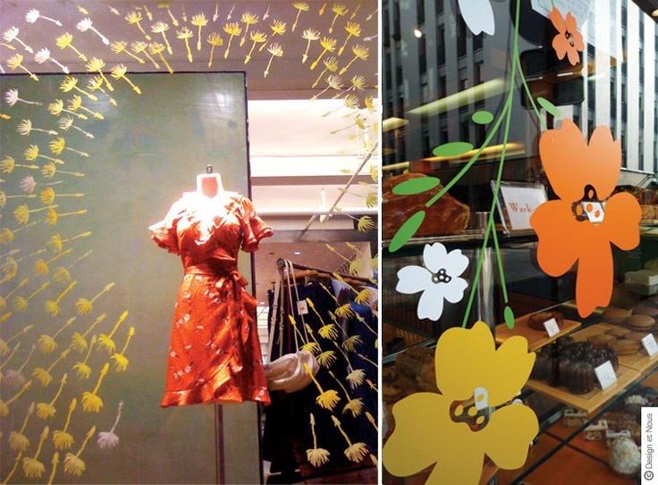 Idée de décoration pour vitrines de Printemps avec des Stickers : http://blog.designetnous.com/post/2013/02/16/annoncez-le-printemps-en-decorant-vos-vitrines-stickers-vitrines-vitrophanies-boutiques-magasins-graphismes-deco-adhesifs-tendances-sur-mesure-autocollants-decoration-merchandising