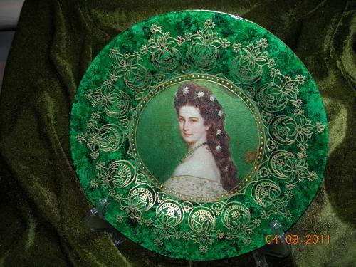 моя малахитовая тарелка http://dcpg.ru/blogs/1426/ Click on photo to see more! Нажмите на фото чтобы увидеть больше! decoupage art craft handmade home decor DIY do it yourself plate