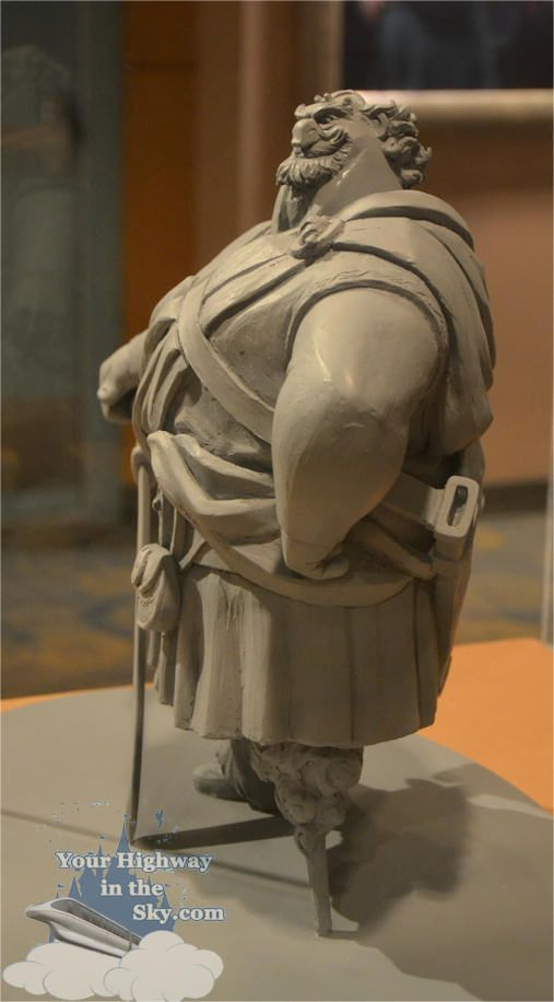 fergus sculpted out of clay. Ms.S would love this.