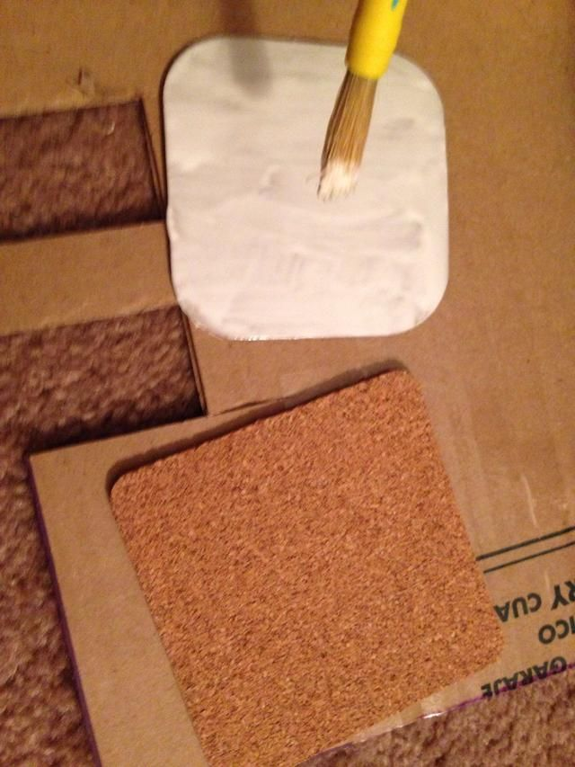 And brush a good amount of tacky glue all over the chipboard