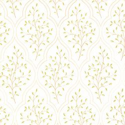 Sassafras #wallpaper in #white from the Chelsea collection. #Thibaut
