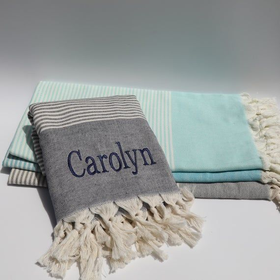 Turkish Towel Set Personalized Towels Handloomed Peshtemal Turkish