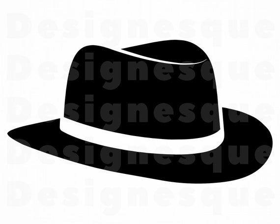 Classic Hat Svg Fedora Hat Svg Hat Svg Hat Clipart Hat Etsy Classic Hats Fedora Hat Svg