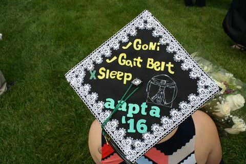 2016 - My PTA program graduation cap!