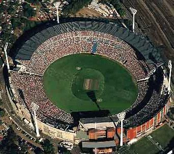 The Melbourne Cricket Ground.  Ashes test match on Boxing Day, please.