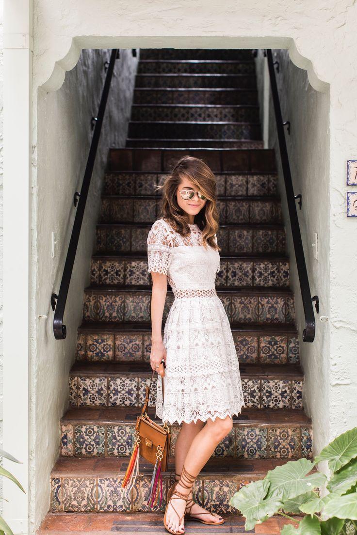Alexis White Lace Dress