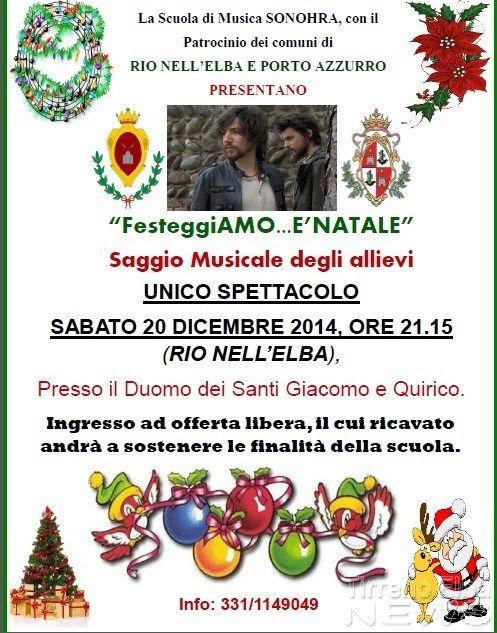 Domani a Rio Elba concerto della scuola di musica dei Sonohra Oltre sessanta gli iscritti che si esibiranno eseguendo brani tipici del periodo festivo Da Tenews