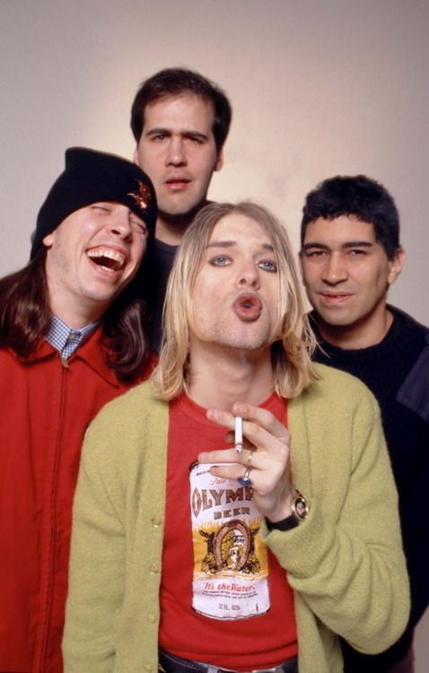 Dave Grohl, Kurt Cobain, Krist Novoselic, Pat Smear #Nirvana