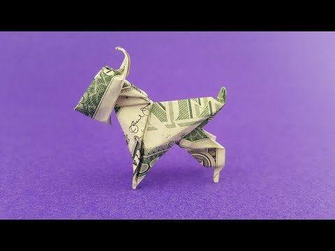DOLLAR BILL ORIGAMI DOG (Mini Schnauzer) TUTORIAL …