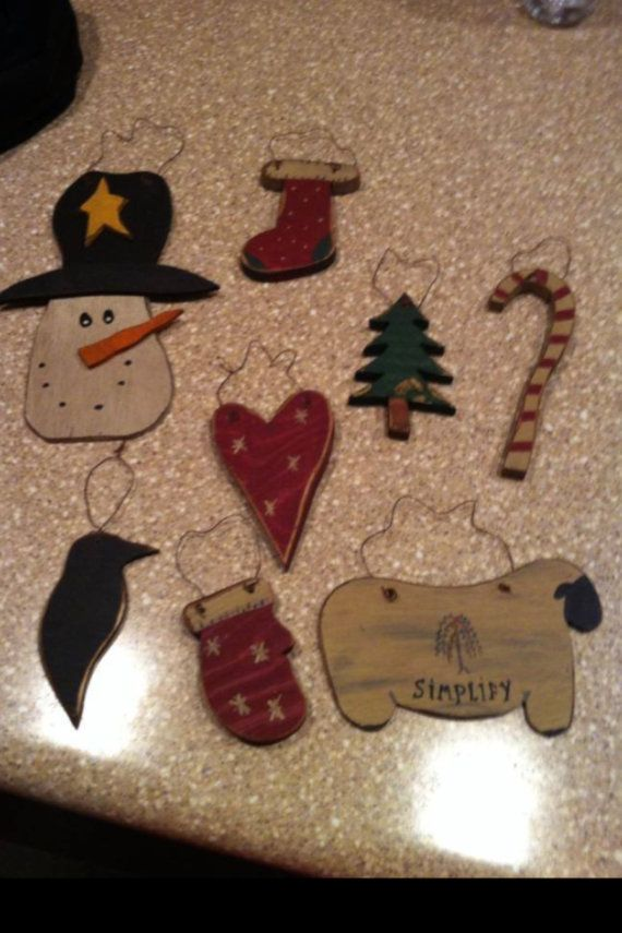 Primitive christmas ornaments by Jayscountrycreations on Etsy