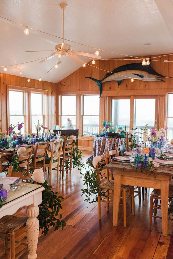 Beach house wedding reception #wedding #urquidlinen