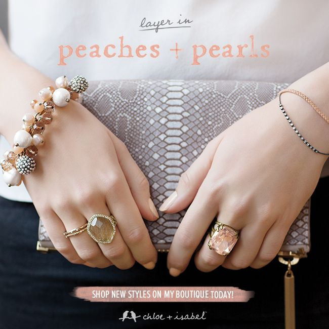 Layer in Peaches + Pearls - Shop My c+i Boutique! sooo many bracelets click on picture and find affordable jewelry!