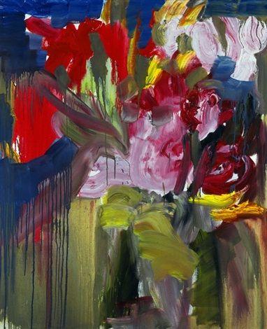 Welkende Tulpen von Rainer Fetting