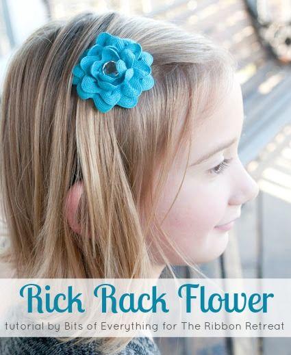 Rick Rack Flower Tutorial - Beautiful handmade flowers using Rick Rack! So cute and easy! {The Ribbon Retreat Blog}