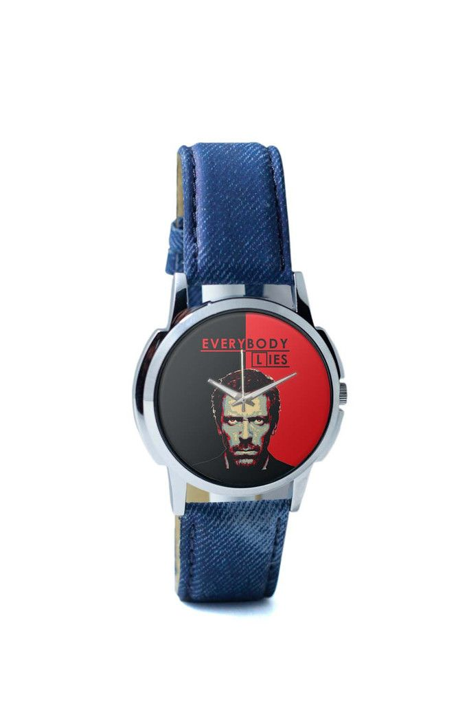 Wrist Watches India | Everybody Lies House M.D Illustration Wrist Watch Online India.