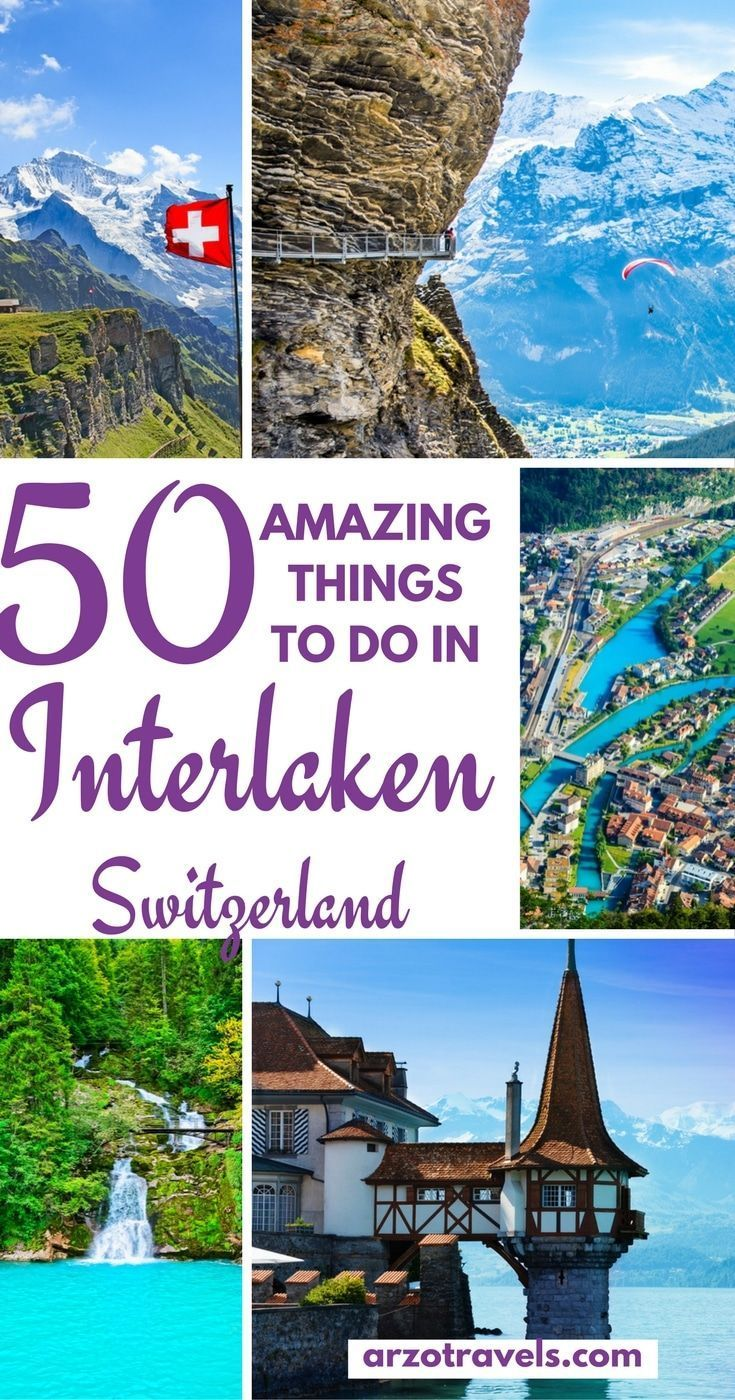 What to do in Interlaken and Jungfrau Region – 50 Ideas for Things to do in Interlakenm one of the most beautiful regions in the world. Europe, Switzerland.