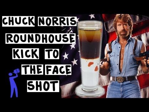 Chuck Norris Roundhouse Kick to The Face Shot - Tipsy Bartender