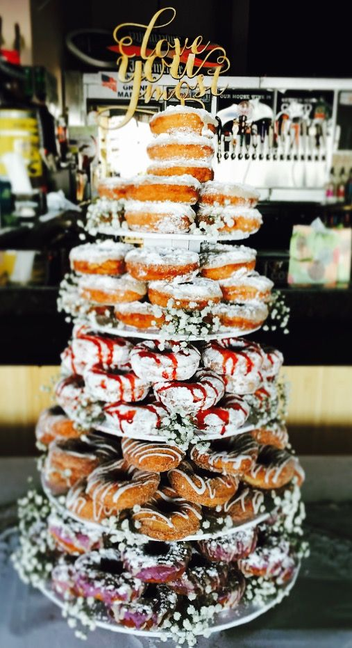 Donut Tower for a sweet treat when guests leave your reception