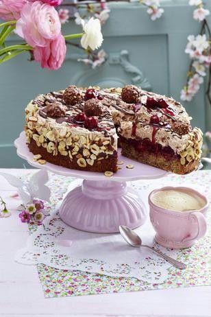 Feine Rocher Torte Rezept Rocher Torte Torten Rezepte Und Torten