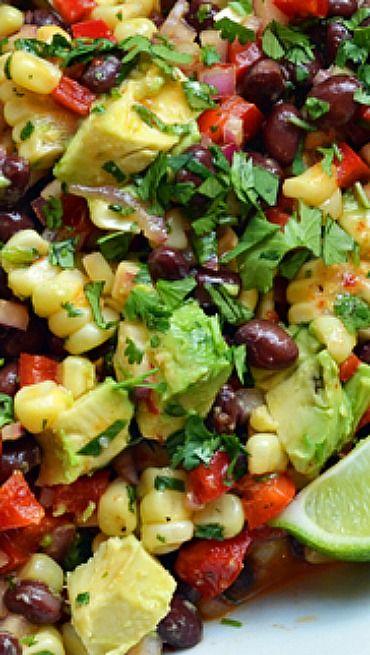 Black Bean & Corn Salad with Chipotle Honey Vinaigrette