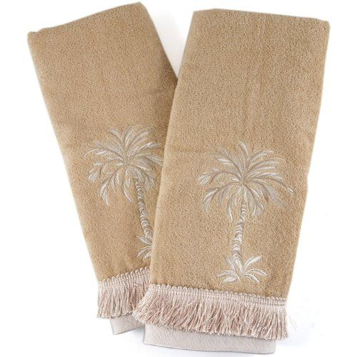 Towels With Palm Trees Tan Cotton Hand Towel With Palm