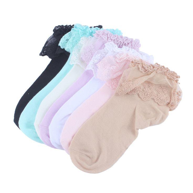 Женщины носки кружева рюшами оборками женщины женщины девушки носки сладкий мило 7 цветов старинные женщины носки