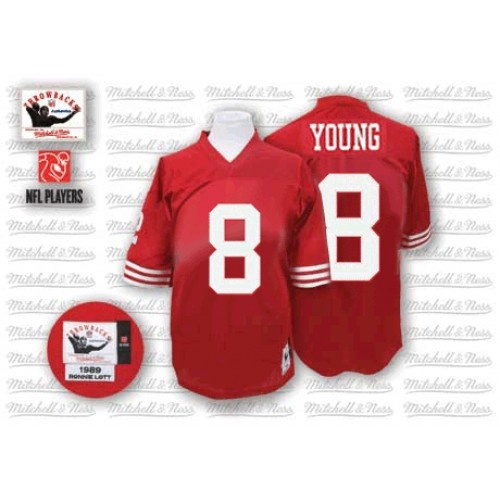 Nike Mitchell and Ness San Francisco 49ers http://#8 Steve Young Red Authentic NFL Jersey$109.99