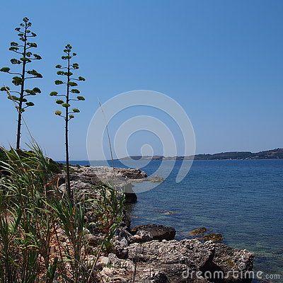 View of Kefalonia & x28;Cephalonia& x29;, Greece.