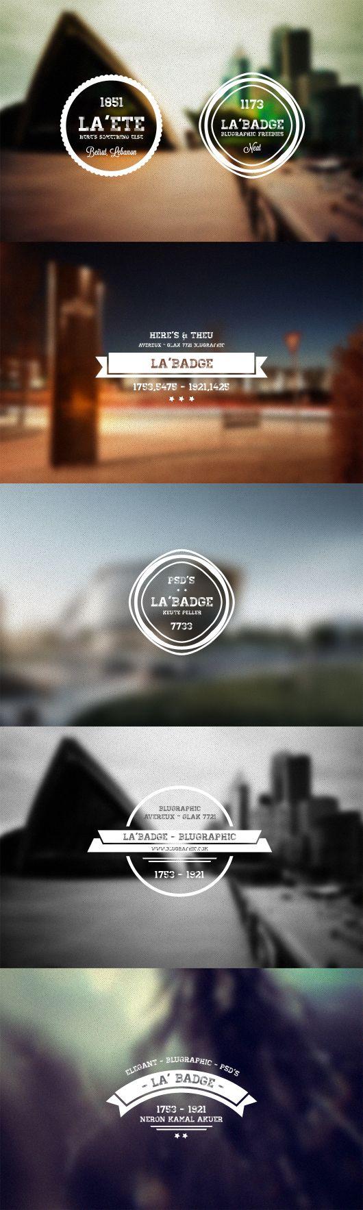 5 Photo Neat Retro Badges (PSD)