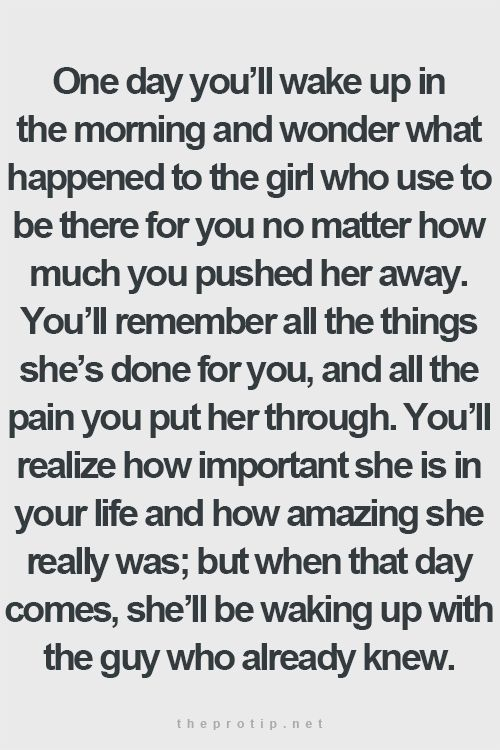 The reverse is also true...substitute all those female pronouns for male...How was it so damn easy for you to walk away from a little work and throw away everything we were, everything we had...I'll never understand. Maybe you never really loved me at all.